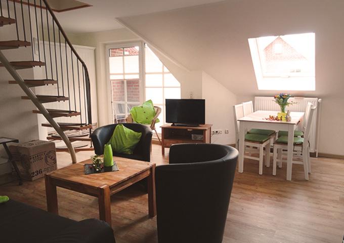 Tidehuus Wohnzimmer Wohnung 3