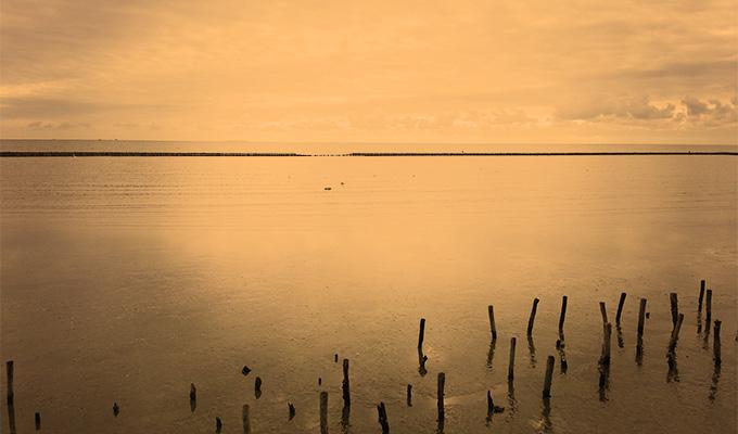 Nordsee im Abendrot
