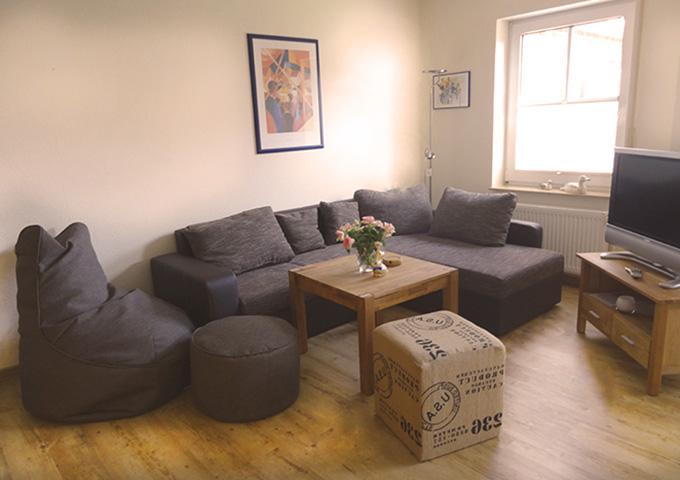 Wohnung 1 Wohnzimmer Tidehuus