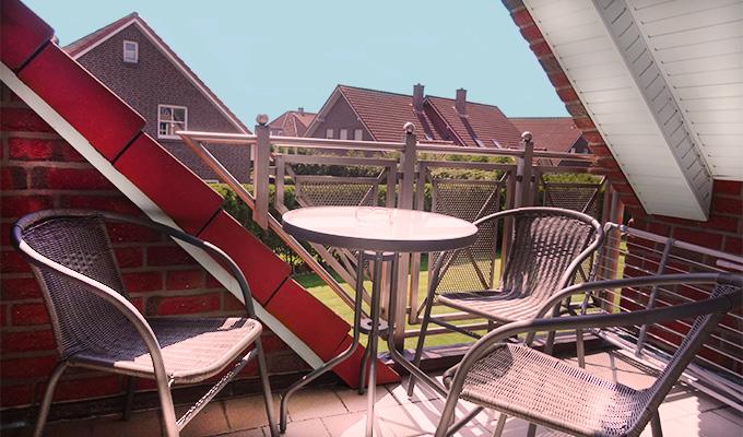 Tidehuus Horumersiel Balkon Wohnung 3