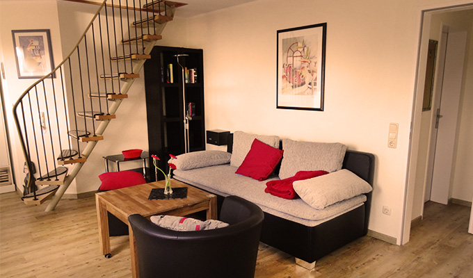 Tidehuus Horumersiel Wohnzimmer Wohnung 4