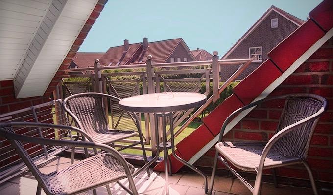 Tidehuus Horumersiel Balkon Wohnung 4